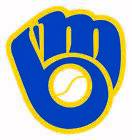 Milwaukee Brewers Throwback logo Vinyl Decal / Sticker 5 Sizes!!!