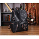 Mens Laptop Travel School Bags Black Blue Leather Hiking Backpack Rucksack Bag
