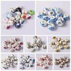 HOT 10pcs Ceramic Rondelle Charm Big Hole Beads Fit European Bracelet Craft image