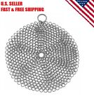 Stainless Steel Cast Iron Skillet Cleaner Chainmail Cleaning Scrubber BBQ Grills