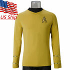 Star Trek TOS Captain Kirk Shirt Uniform Cosplay Costume Yellow Men's Shirt New on eBay