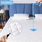 Waterproof Cooling Mattress Pad Quilted Deep Pocket Matress Topper Quilted Cover image