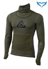 Aclima Warmwool Hood Sweater Man olive night marengo Merino Wool 200g M XL XL XX