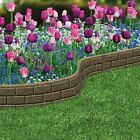 Garden Lawn Edging Flexible Flower Bed Border Wall Eco Recycled Rubber 'EZ' NEW