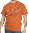 Harley-Davidson Mens Sparkle Spirit Piston B&S Texas Orange Short Sleeve T-Shirt image