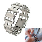 US Stainless Steel Bracelet Multi Tool Wristband Climbing Hiking Wearable Tools