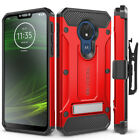 Motorola Moto G7 Power Case, Belt Clip Holster & Glass Screen Protector (XT1955)