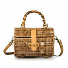 Women Rattan Weave Wicker Bag Handbag Can Also Be Shoulder Bag Tote Boho Styles