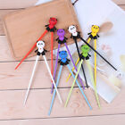 1 Pairkids children training chopsticks silicone panda helper learning giftBLUS