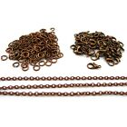 Jewellery Making Findings Antique Copper Plated Chain, Clasps, Jump Rings SD1