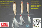 NAS NEW SILVER SCALE FEATHER HOOK JIGGING LURES 7G,10G,15G,BOAT OR SHORE CAST