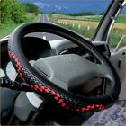 Kyпить Dermay® Steering Wheel 36-50cm Woven Leather Cover Car Bus Truck, 36 38 40 42 45 на еВаy.соm