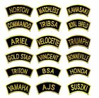 GOLDON Traditional Motorcycle Shoulder Title Patches Badges SewIron on £1.99 GBP on eBay