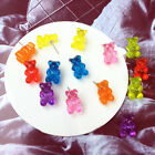 Lovely Handmade Cartoon Bear Earring Resin Animal Stud Earring Funny Jewel Gift