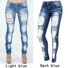 Distressed Jeans Denim Pants Stretch Womens Ripped Skinny Denim Jeans For Female