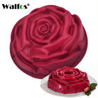 WALFOS 3D Handmade Round Shape Silicone Cake Mold 3Cupcake Jelly Pudding Cookie
