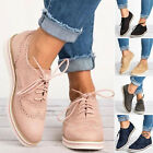 Womens Sneakers Casual Breathable Tennis Trainers Lace Up Athletic Sports Shoes