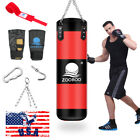 Heavy Boxing Punching Bag Training Gloves Speed Set Kicking MMA arm pad target
