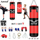 Kyпить Unfilled Heavy Boxing Punching Bag Training Gloves Speed Set Kicking MMA Aaweal на еВаy.соm