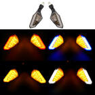 1 pair Durable Modified 12V Universal Motorcycle Parts LED Turn Signals 4 Colors