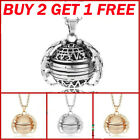 BUY 2 GET 1 GIFTS Expanding 4 Photo Locket Necklace Ball Angel...