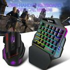 35keys Mechanical One-handed Keyboard Left Hand Game Keypad For Lol/dota/pubg Au
