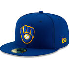 Milwaukee Brewers New Era Alternate Authentic On-Field 59FIFTY Fitted Hat-Royal on Ebay