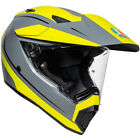 AGV AX9 Pacific Road Motorcycle Helmet - Matte Grey / Yellow Fluo - CHOOSE SIZE