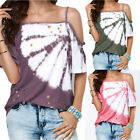 Womens Summer Cold Should Floral T Shirt Casual Loose Tank Top Sexy Shirt Blouse