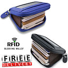 Men Wallet Credit Card Holder Genuine Leather Blocking RFID Thin Zipper  Pocket