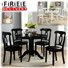 Dining Table And Chairs Room 5 Piece Wood Modern Contemporary Round Kitchen Set