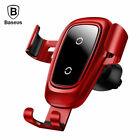 Baseus 10W Qi Wireless Car Mount Charger Quick Fast Charging Pad Holder Stand