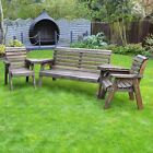 Barrowden Outdoor Wooden Garden Companion 5 Seat / Patio Furniture / Bench 131a