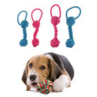 2pcs Practical Pet Dog Toy Bite Rope Bone Toy Small Puppy Chews Teeth Cleaning