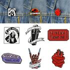 Is Ok To Deacay No Mercy Hell Messenger Coffin Funny Brooch Creative Badge Pins