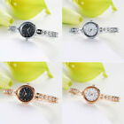 Fashion Ladies Women Stainless Steel Small Dial Rhinestone Quartz Wrist Watches image