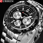 Fashion CURREN Luxury Brand Quartz Stainless Steel Military Men's Wrist Wacth image
