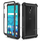 For LG Stylo 5 4 Plus Shockproof Hybrid Rugged Armor Case Cover + Tempered Glass