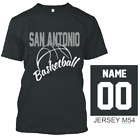 SAN ANTONIO BASKETBALL T SHIRT JERSEY CUSTOM PERSONALIZED NAME NUMBER, S-XL