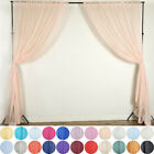 2 pcs 5ft x 10ft Sheer Voile Professional BACKDROP Drapes Panels Wedding Party