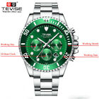 TEVISE Business Mens Stainless Steel Automatic Skeleton Waterproof  Wrist Watch image
