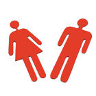 3d Red Toilet Entrance Sign Mirror Wall Sticker Bathroom Decor Toilet Decal We