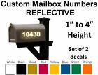 Custom Mailbox Numbers Reflective Vinyl Decals Stickers House - Set Of 2