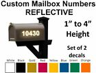 Set Of 2 - Custom Mailbox Numbers Reflective Vinyl Decals Stickers House