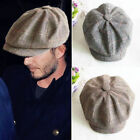 Men Women Winter Peaked Ivy Cap Golf Driving Flat Cabbie Newsboy Beret Hat Caps