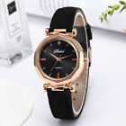 Trendy Women Simple Retro Design Leather Analog Alloy Quartz Wrist Watch Gift US