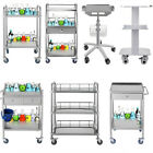Hospital Stainless Steel Three Layers Serving Medical Dental Lab Cart Trolley GT