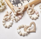 Baby Teething Bracelets Beech Animal Wooden Silicone Beads Teether Rattles Toys