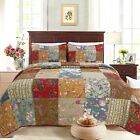 Ryleigh Patchwork Cotton Reversible Quilt Set, Bedspread, Coverlet image