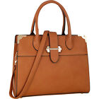 Dasein Faux Leather Medium Satchel 4 Colors